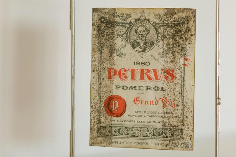 1855- petrus - etiquette Bordeaux - le Clos Labottiere -
